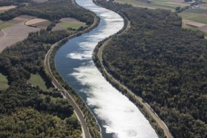 Aerial view of the Isar near Neutiefenweg - Klaus Leidorf Aerial Photography