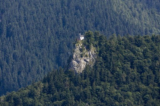 Aerial view of the chapel on the Riederstein near Tegernsee - Klaus Leidorf Aerial Photography