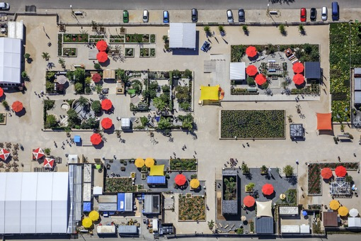 Aerial photograph of the State Garden Show 2017 in Pfaffenhofen a.d.Ilm - Klaus Leidorf Aerial Photography