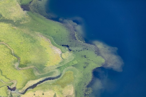 Aerial view of the mouth of the Firstgraben into the Sptzingsee - Klaus Leidorf Aerial Photography