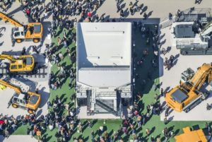Aerial view of the Bauma 2004 trade fair in Munich-Riem - Klaus Leidorf Aerial Photography