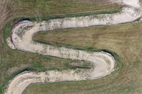 Aerial view of the motocross track near Waldsassen-Hundsbach - Klaus Leidorf Aerial Photography