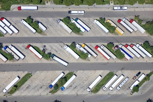 Aerial view of the Frankenhöhe rest stop on the A6 motorway near Aurach - Klaus Leidorf Aerial Photography