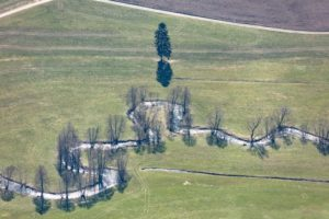 Aerial view of the Saxon Saale near Seulbitz - Klaus Leidorf Aerial Photography