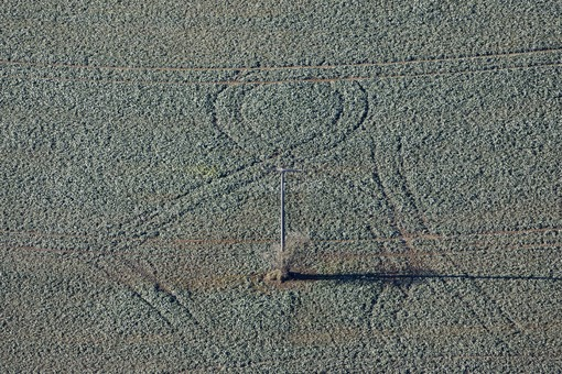 Aerial photograph of the track of a loop in the field - Klaus Leidorf Aerial Photography