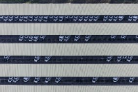 Aerial view of the Knaus-Tabbert camper van factory in Jandelsbrunn - Klaus Leidorf Aerial Photography