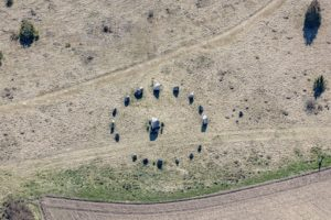 Aerial view of a small stone circle near Altmannstein-Sollern - Klaus Leidorf Aerial Photography