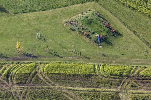 Aerial view of a natural playground in Vilsheim - Klaus Leidorf Aerial Photography