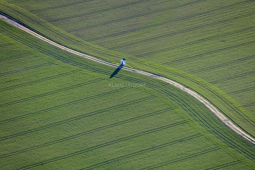 Aerial view of a field chapel by the wayside - Klaus Leidorf Aerial Photography