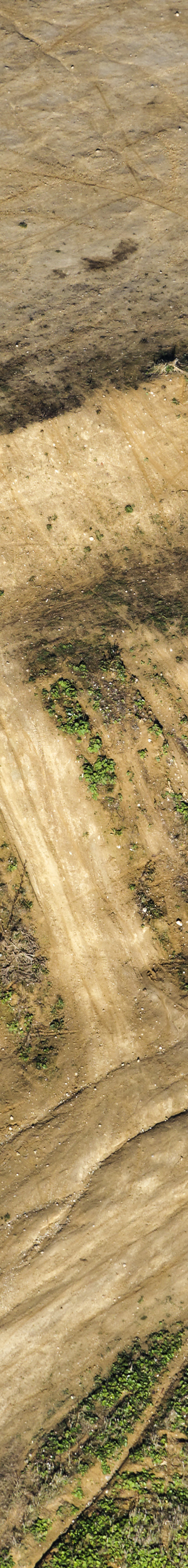 Aerial view of a motocross track on the hill at the end of the A94 motorway near Pastetten-Fendsbach - Klaus Leidorf Aerial Photography