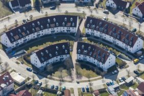 Aerial photograph of a new housing estate in Dingolfing - Klaus Leidorf Aerial Photography