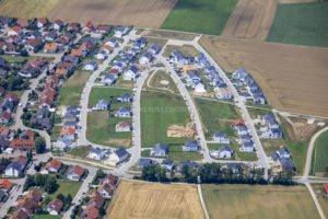 Aerial photograph of a new housing estate in Großmehring - Klaus Leidorf Aerial Photography