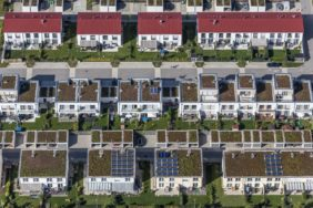 Aerial view of a new housing estate in Poing - Klaus Leidorf Aerial Photography