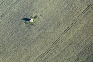 Aerial view of a lonely field chapel near Kelheim-Thaldorf - Klaus Leidorf Aerial Photography