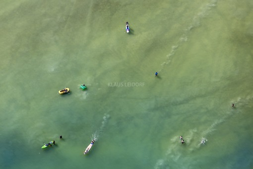 Aerial view of bathers at Ammersee - Klaus Leidorf Aerial Photography