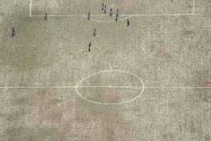 Aerial view of a soccer field in Grafenau - Klaus Leidorf Aerial Photography