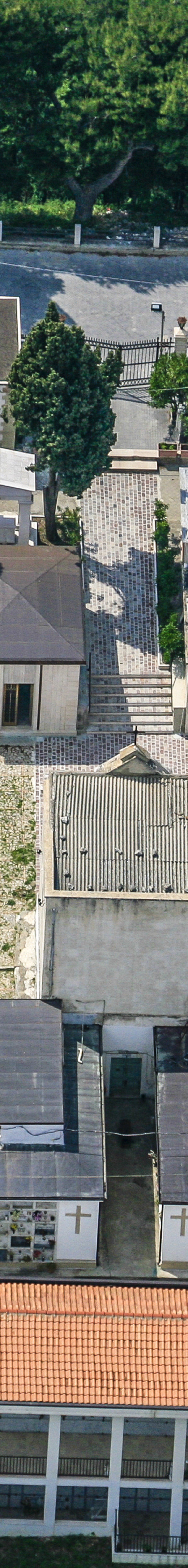 Aerial view of the graveyard in Deliceto in Apulia, Italy - Klaus Leidorf Aerial Photography