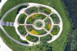 Aerial view of the Glacis park in New-Ulm - Klaus Leidorf Aerial Photography