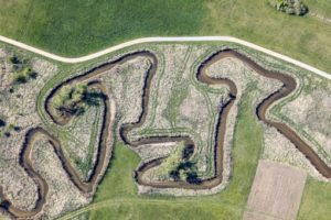 Aerial view of the curves of the river Grosse Laber in Schierling - Klaus Leidorf Aerial Photography