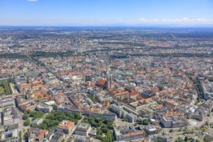 Aerial view of the old town of Munich - Klaus Leidorf Aerial Photography