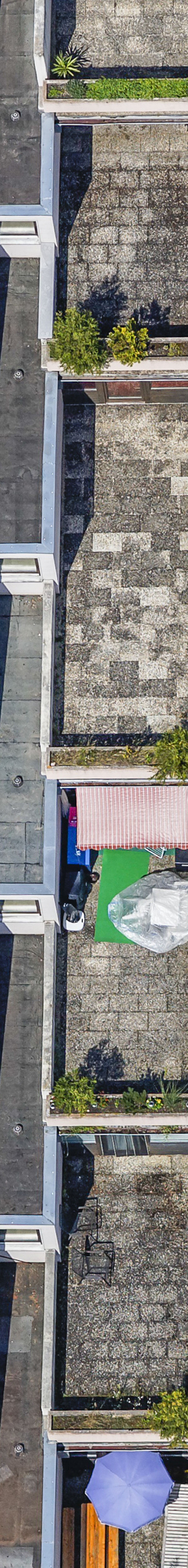 Aerial view of an appartment building for students in Passau - Klaus Leidorf Aerial Photography
