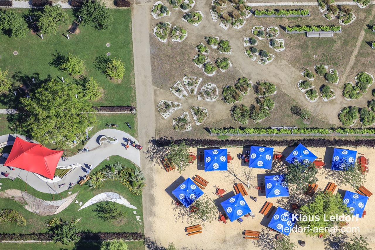 """Aerial of the premises resulting from a horticutural show called """"Nature in Alzenau 2015"""". 2017-07-13"""